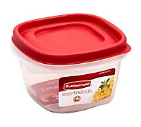 Rubbermaid Easy Find Lid Squr 2 Cup - Each