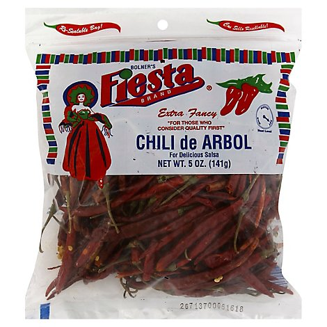 Fiesta Chili Arbol - 5 Oz