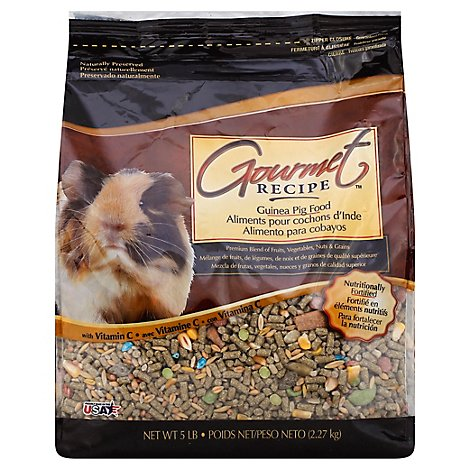 Kaytee Gourmet Recipe Pet Food Guinea Pig Bag - 5 Lb