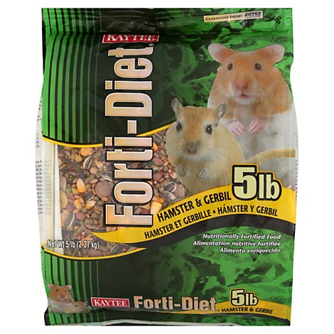 Kaytee Forti-Diet Pet Food Hamster & Gerbil Bag - 5 Lb