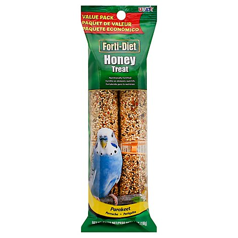 Kaytee Forti-Diet Pet Food Treat Honey Parakeet Value Pack - 7 Oz