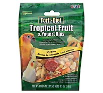 Kaytee Forti-Diet Pet Food Birds Tropical Fruit & Yogurt Dips Strawberry Banana & Mango - 3.5 Oz