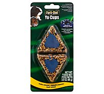 Kaytee Forti-Diet Yo Cups Pet Food Treat Blueberry Flavor For Small Animals Blister Pack - 3 Oz