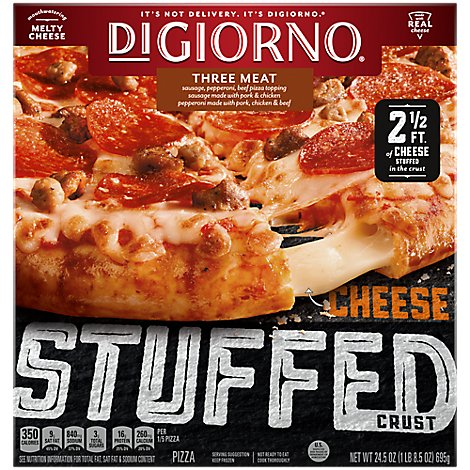 DIGIORNO Pizza Cheese Stuffed Crust 3 Meat Frozen - 24.5 Oz