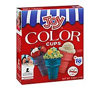 Joy Ice Cream Cups Color 18 Count - 2.63 Oz