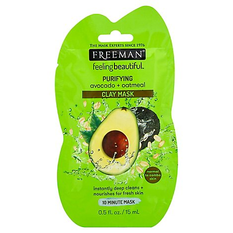Freeman Feeling Beautiful Facial Clay Mask Avocado & Oatmeal - 0.5 Fl. Oz.