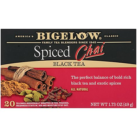Bigelow Black Tea Spiced Chai - 20 Count