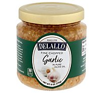DeLallo Garlic Fine Chopped in Pure DeLallo Olive Oil - 6 Oz
