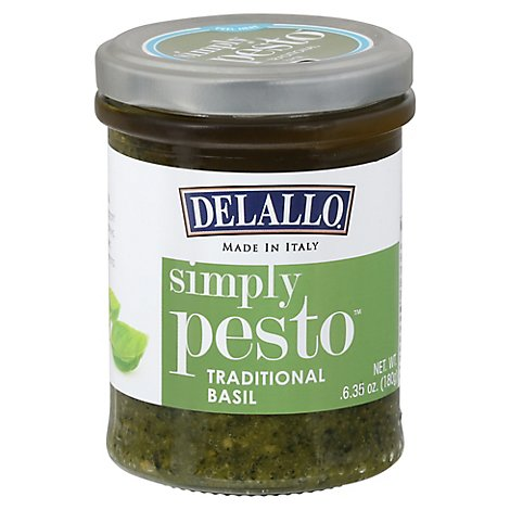 Delallo Simply Pesto Traditional Basil Jar 6 Oz Safeway