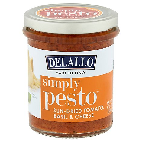 DeLallo Simply Pesto Sun-Dried Tomato Basil & Cheese Jar - 6.35 Oz
