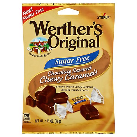 Werthers Original Caramel Chewy Chocolate Flavored Sugar Free - 2.75 Oz