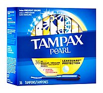 Tampax Pearl Tampons Plastic Regular Absorbency Fresh Scent - 36 Count