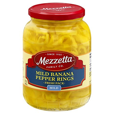 Mezzetta Pepper Rings Deli-Sliced Mild - 32 Oz
