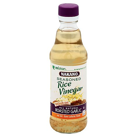 Nakano Rice Vinegar Ssnd W/Rstd Garlic - 12 Oz