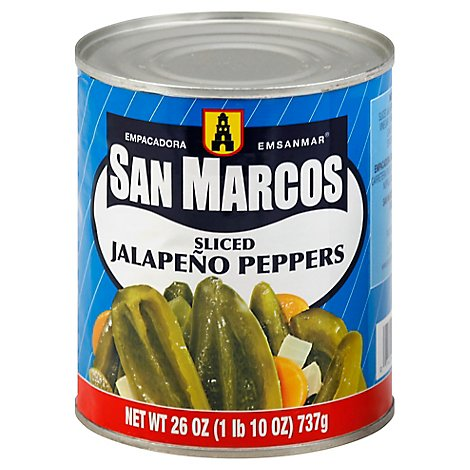 San Marcos Peppers Jalapeno Sliced Can - 26 Oz