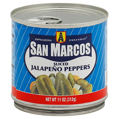 San Marcos Peppers Jalapeno Sliced Can - 11 Oz