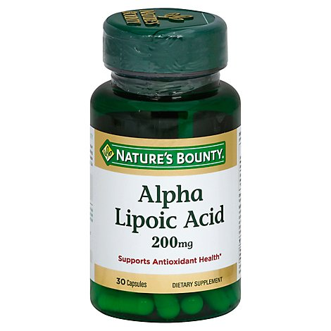 Natures Bounty Alpha Lipoic Acid 200mg - 30 Count