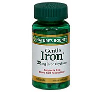 Natures Bounty Mineral Supplement Capsules Gentle Iron 28 mg - 90 Count
