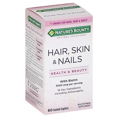 Natures Bounty Skin Hair Nails Supplemnt - 60 Count
