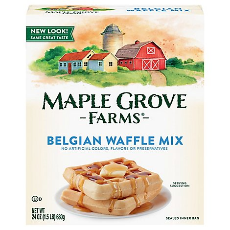 Maple Grove Farms Belgian Waffle Mix - 24 Oz