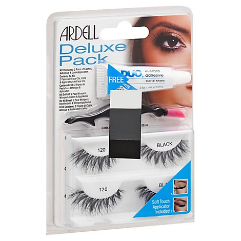 Ardell Delux Pack Lash 120 Blk - Each