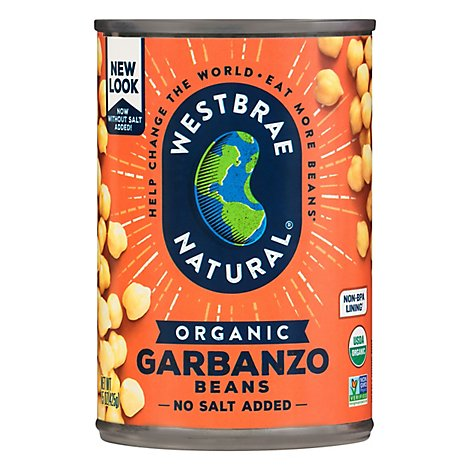 Westbrae Natural Organic Beans Garbanzo Low Sodium - 15 Oz