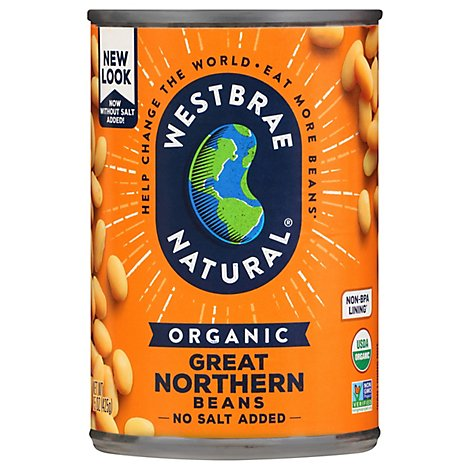 Westbrae Natural Organic Beans Great Northern Low Sodium - 15 Oz