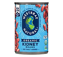 Westbrae Natural Organic Beans Kidney Low Sodium Can - 15 Oz