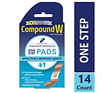 Compound W One Step Warts Remover - 14 Count
