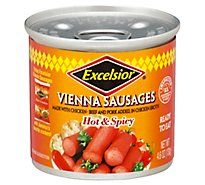 Excelsior Vienna Sausages Hot & Spicy - 4.6 Oz