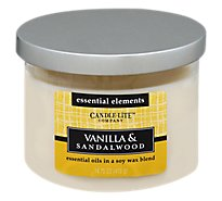Candle Lite Candle 3 Wick Vanilla & Sandalwood - Each