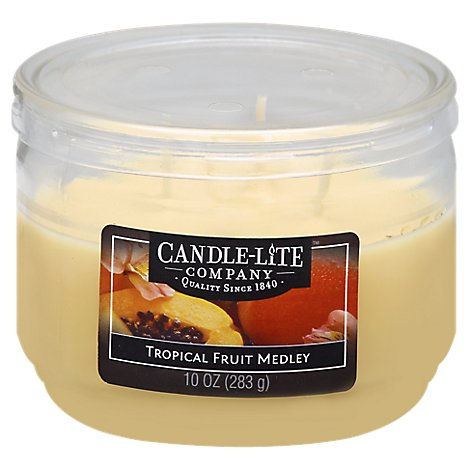 Candle Lite Wick Tropical Fruit 10 Oz - Each