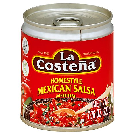 La Costena Salsa Homestyle Mexican Medium Can - 7.76 Oz