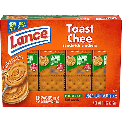 Lance Toast Chee Crackers Peanut Butter 8 Count - 11 Oz.