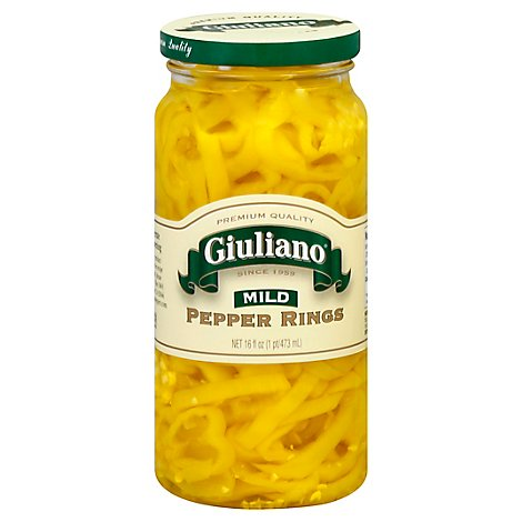 Giuliano Pepper Rings Mild - 16 Fl. Oz.