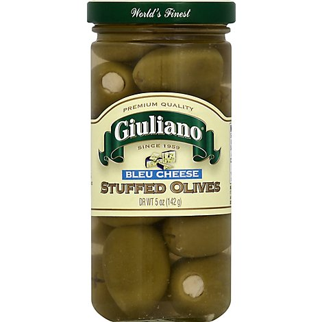 Giuliano Olives Stuffed Bleu Cheese - 5 Oz
