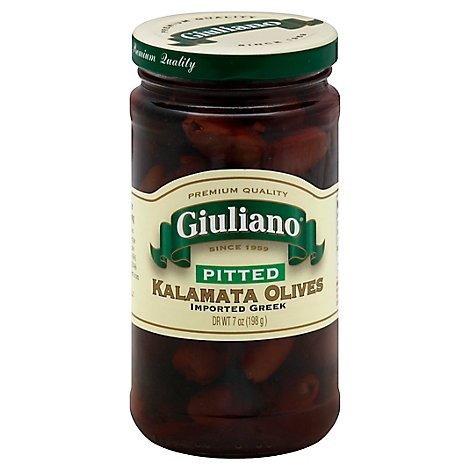 Giuliano Olives Kalamata Pitted - 7 Oz