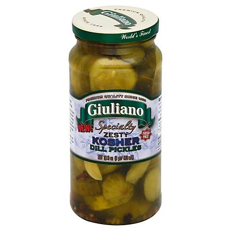 Giuliano Pickles Dill Kosher - 16 Fl. Oz.