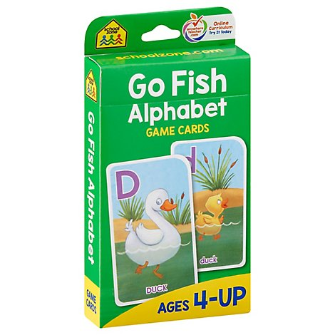 School Zone Publishing Game Cards Go Fish Alphabet - Each