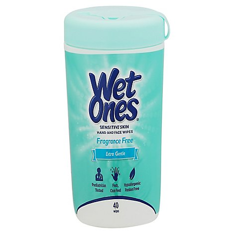 Wet Ones Hand Wipes Sensitive Skin Extra Gentle - 40 Count