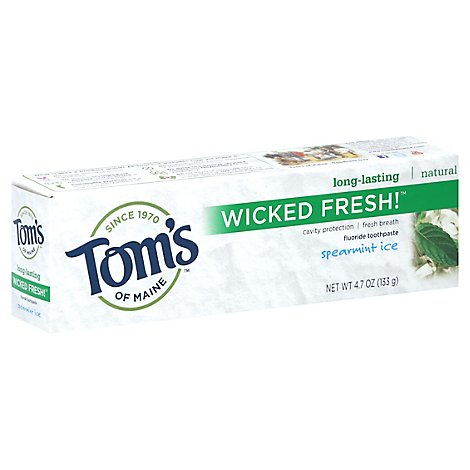 Toms Of Maine Toothpaste Wicked Fresh! Spearmint Ice Fluoride - 4.7 Oz