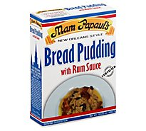 Mam Papauls Bread Pudding with Rum Sauce New Orleans Style - 16.25 Oz