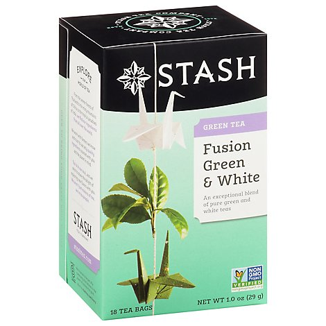 Stash Green & White Tea Fusion Green & White - 18 Count