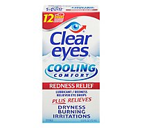 Clear Eyes Eye Drops Lubricant/Redness Reliever Cooling Comfort - 0.5 Fl. Oz.