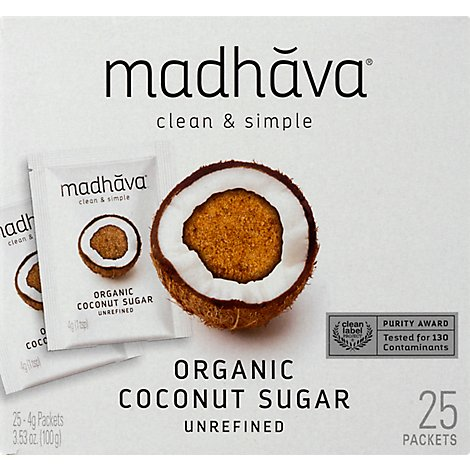 Madhava Organic Coconut Packets 30 - 3.53 Oz