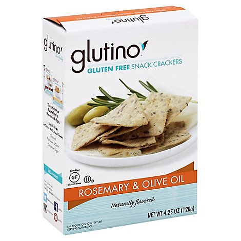 Glutino Cracker Rosemary & Oil - 4.25 Oz