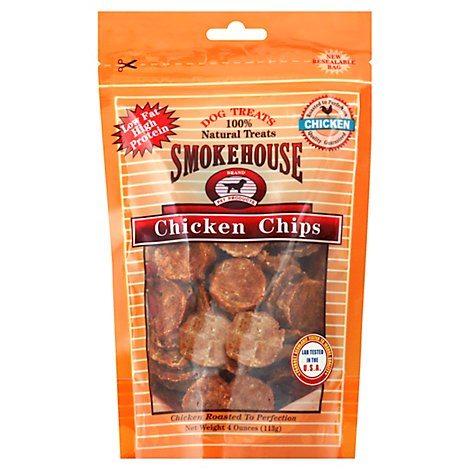 Smokehouse Dog Treats Chicken Chips - 4 Oz