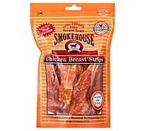 Smokehouse Dog Treats Chicken Strips Breast Pouch - 8 Oz
