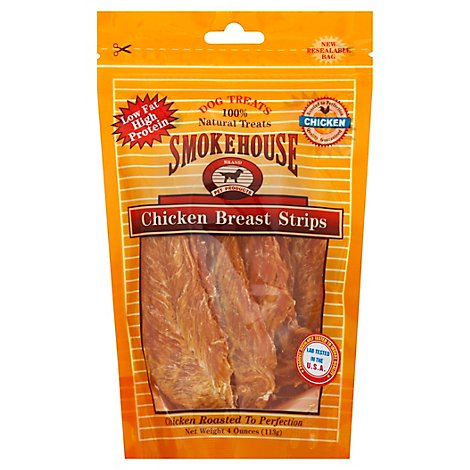 Smokehouse Dog Treats Chicken Strips Breast Pouch - 4 Oz