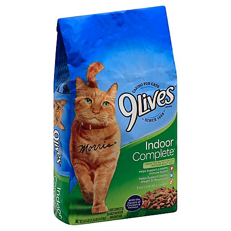 9Lives Cat Food Dry Indoor Complete Chicken & Salmon Bag - 3.15 Lb